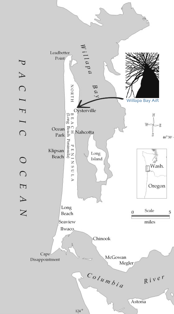 long beach peninsula map